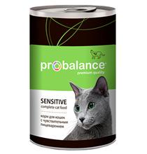 Probalance Sensitive / Консервы Пробаланс для кошек с Чувствительным пищеварением (цена за упаковку)