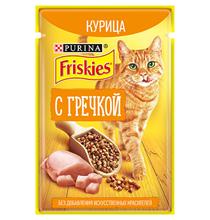 Friskies / Паучи Фрискис для кошек Курица с Гречкой (цена за упаковку)
