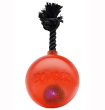Hagen Bomber / Игрушка Хаген для собак  Мяч светящийся с ручкой на веревке Оранжевый