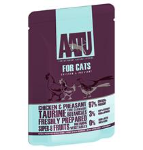 AATU for Cats Chicken & Pheasant / Паучи Аату для взрослых кошек Курица и Фазан (цена за упаковку)