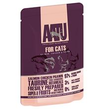 AATU for Cats Salmon & Chicken & Prawn / Паучи Аату для взрослых кошек Лосось Курица и Креветки (цена за упаковку)