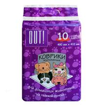 OUT! / Впитывающие коврики Аут для домашних животных на гелевой основе