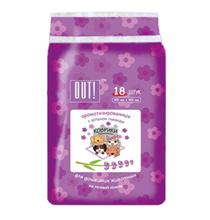 OUT! / Впитывающие коврики Аут для домашних животных на Клейкой ленте с ароматом Лаванды