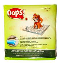 OOPS! / Впитывающие коврики Упс для домашних животных на Клейких полосках с Водяными знаками