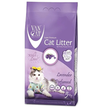 Van Cat Lavender / Комкующийся наполнитель Ван Кэт для кошачьих туалетов Без пыли с ароматом Лаванды