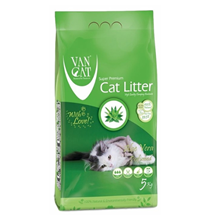 Van Cat Aloe Vera / Комкующийся наполнитель Ван Кэт для кошачьих туалетов Без пыли с ароматом Алоэ вера