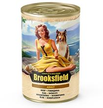 Brooksfield Dog Adult / Консервы Бруксфилд для взрослых собак Говядина с рисом (цена за упаковку)