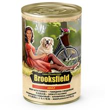 Brooksfield Dog Adult / Консервы Бруксфилд для взрослых собак Говядина с Индейкой и рисом (цена за упаковку)