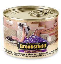 Brooksfield Dog Adult Small Breed / Консервы Бруксфилд для взрослых собак Мелких пород Говядина с Ягненком и рисом (цена за упаковку)