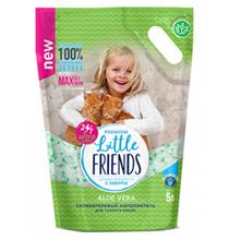 Little Friends Aloe Vera / Наполнитель Литтл Френдз для кошачьего туалета Силикагелевый с ароматом Алоэ вера