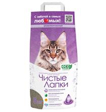 Чистые лапки (Clean Paws) Наполнитель для кошачьего туалета Комкующийся ECO-Friendly Ароматизированный