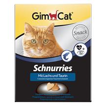 GimCat Schnurries Snack Lachs Taurin / Кормовая добавка Джимкэт для кошек Сердечки с Лососем и Таурином