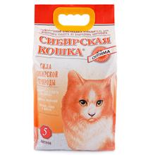 Сибирская Кошка / Наполнитель для кошачьего туалета Оптима Комкующийся