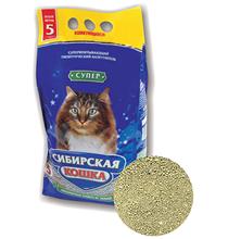 Сибирская Кошка / Наполнитель для кошачьего туалета Супер Комкующийся