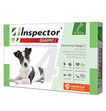 Inspector Quadro С / Капли Инспектор от Внешних и Внутренних паразитов для собак весом от 4 до 10 кг