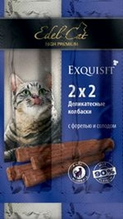 Edel Cat / Деликатесные Колбаски-мини для кошек Форель и Солод 1х4