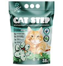 Cat Step Crystal Fresh Mint / Силикагелеввый наполнитель Кэт Степ для кошачьего туалета