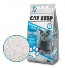 Cat Step Compact White Original / Наполнитель Кэт Степ для кошачьего туалета комкующийся Минеральный