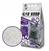 Cat Step Compact White Lavеnder / Наполнитель Кэт Степ для кошачьего туалета комкующийся Минеральный с ароматом Лаванды