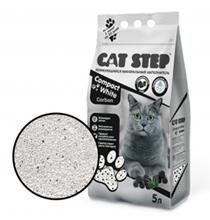 Cat Step Compact White Carbon / Наполнитель Кэт Степ для кошачьего туалета комкующийся Минеральный с Активированным углем