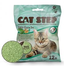 Cat Step Tofu Green Tea / Комкующийся растительный наполнитель для кошачьего туалета Зеленый чай