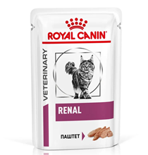 Royal Canin Loaf / Ветеринарный влажный корм (Паучи) Роял Канин Ренал для кошек Заболевание почек (хроническая почечная недостаточность) Паштет (цена за упаковку)