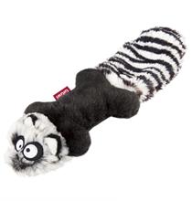 GiGwi Dog Toys / Игрушка Гигви для собак Енот с пищалками Ткань Резина