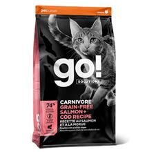 GO! Carnivore Grain Free Salmon + Cod Recipe / Сухой Беззерновой корм Гоу для Котят и кошек Лосось Треска