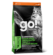 GO! Carnivore Grain Free Freshwater Trout + Salmon Recipe / Сухой Беззерновой корм Гоу для Котят и кошек с Чувствительным пищеварением Форель Лосось