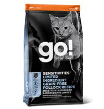 GO! Sensitivities Limited Ingredient Grain FreePollock Recipe / Сухой Беззерновой корм Гоу для Котят и кошек с Чувствительным пищеварением Минтай