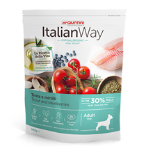 Italian Way Hypoallergenic Ideal Weight Adult Mini Grain free Trout Blueberry / Сухой Беззерновой корм Италиан Вей для собак Мелких пород Гипоаллергенный Контроль веса Форель Черника