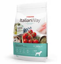 Italian Way Hypoallergenic Ideal Weight Adult Medium Grain free Trout Blueberry / Сухой Беззерновой корм Италиан Вей для собак Средних пород Гипоаллергенный Контроль веса Форель Черника