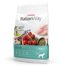 Italian Way Hypoallergenic Ideal Weight Adult Maxi Grain free Trout Blueberry / Сухой Беззерновой корм Италиан Вей для собак Крупных пород Гипоаллергенный Контроль веса Форель Черника