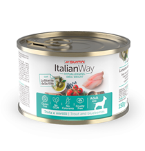Italian Way Hypoallergenic Ideal Weight Gluten Free Trout Blueberry / Консервы Италиан Вей для собак Форель Черника (цена за упаковку)