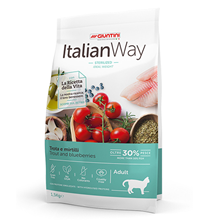 Italian Way Sterilized Ideal Weight Grain free Trout Blueberry / Сухой Беззерновой корм Италиан Вей для Cтерилизованных кошек Контроль веса профилактика Аллергии Форель Черника