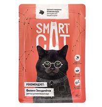 Smart Cat / Паучи Смарт Кэт для Котят и взрослых кошек Говядина в нежном соусе (цена за упаковку)
