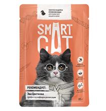 Smart Cat / Паучи Смарт Кэт для Котят и взрослых кошек Индейка в нежном соусе (цена за упаковку)