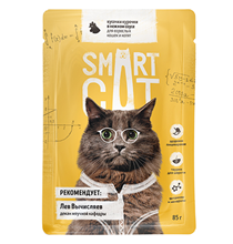 Smart Cat / Паучи Смарт Кэт для Котят и взрослых кошек Курочка в нежном соусе (цена за упаковку)