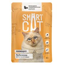 Smart Cat / Паучи Смарт Кэт для Котят и взрослых кошек Курочка с тыквой в нежном соусе (цена за упаковку)