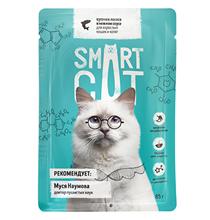 Smart Cat / Паучи Смарт Кэт для Котят и взрослых кошек Лосось в нежном соусе (цена за упаковку)