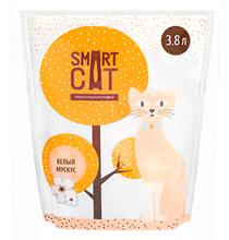 Smart Cat / Наполнитель Смарт Кэт для кошек Силикагелевый аромат Белый мускус