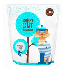Smart Cat / Наполнитель Смарт Кэт для кошек Силикагелевый аромат Морской бриз