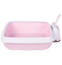 IMAC Duo / Туалет-лоток Аймак для кошек с совочком на подставке Нежно-розовый
