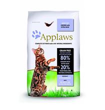 Applaws Adult Grain free Chicken Duck & Vegetables / Сухой Беззерновой корм Эплоус для взрослых кошек Курица Утка овощи