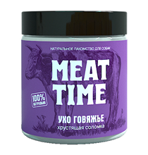 Meat Time / Лакомство Мит Тайм для собак Ухо говяжье Хрустящая соломка