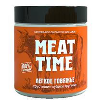 Meat Time / Лакомство Мит Тайм для собак Легкое говяжье Хрустящие кубики Крупные