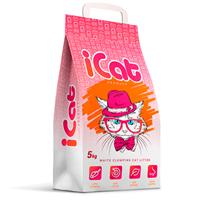 iCat White Clumping / Наполнитель АйКэт для кошачьего туалета Белый Комкующийся Без ароматизатора