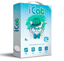 iCat White Clumping Antibacterial / Наполнитель АйКэт для кошачьего туалета Белый Комкующийся Антибактериальный