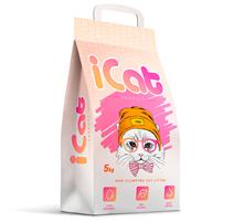 iCat Non Clumping / Наполнитель АйКэт для кошачьего туалета Впитывающий Без ароматизатора