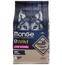 Monge Dog BWild Low Grain Adult All Breeds Goose / Сухой Низкозерновой корм Монж Бивайлд для взрослых собак всех пород мясо Гуся